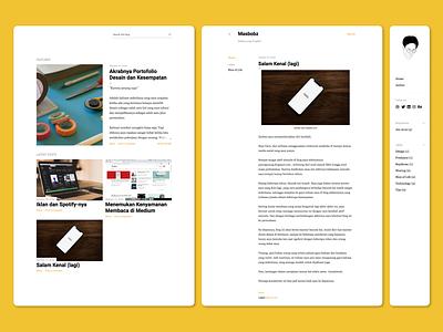 masbobz.com User Interface clean website clean web design clean design minimalist design ui design user experience user interface blogger blog
