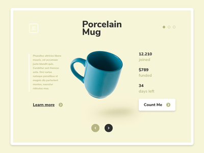 Daily UI #032 | Crowdfunding Campaign crowdfunding campaign campaign minimalist design ux ui landing page website design user interface user experience