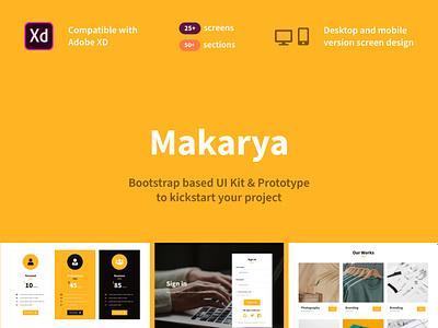 Makarya UI Kit - The Story Behind xd ui kit xd prototype adobe xd ui ux product management digital product design prototype ui kit ui kit design