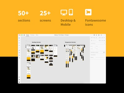 Makarya UI Kit - The Story Behind (Pt.2) ui kit design ui kit prototype responsive design landing page uiux website design user interface user experience