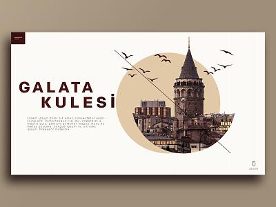GALATA TOWER LANDİNG PAGE icon design web ui