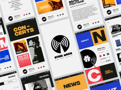 Design of the application for the online radio station