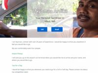I Nyoman Taxi Driver's Website