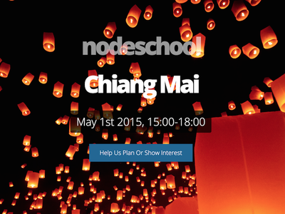 NodeSchool - Chiang Mai background image website transparent