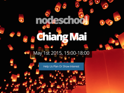 NodeSchool - Chiang Mai background image website transparent