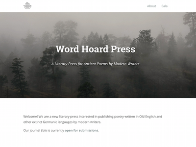Word Hoard Press minimalism press blog