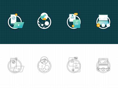 Liudutui_Web_icons web illustration icon ui design