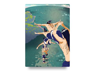 跳 illustration