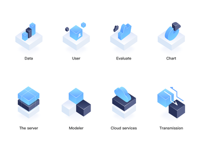 The Server Icons illustrator app website logo icon web ui design illustration