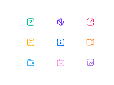 Micro-expansion Icon 建议 送礼倒计时 静音 不提醒 分享 钱包 关于 菜单栏 设计 优惠券 品牌化 app ui 图标