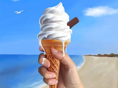 Lick Faster ireland design icecream illustration contemporary art photoshop digital painting
