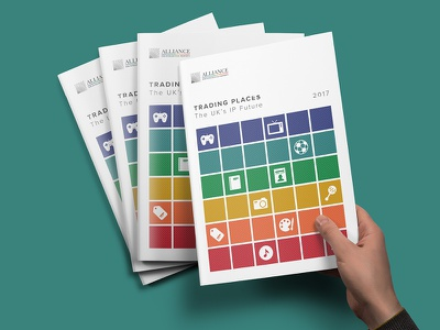 Alliance For IP - Trading Places Report annual report data vis data visualisation design infographic
