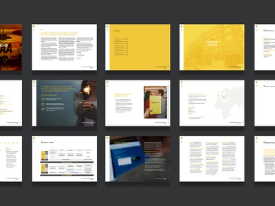 The AA Mobile Applications RFI layout interactive ui brochure annual report report rfi