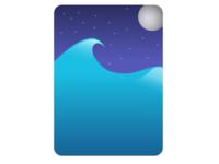 Midnight Ocean Card