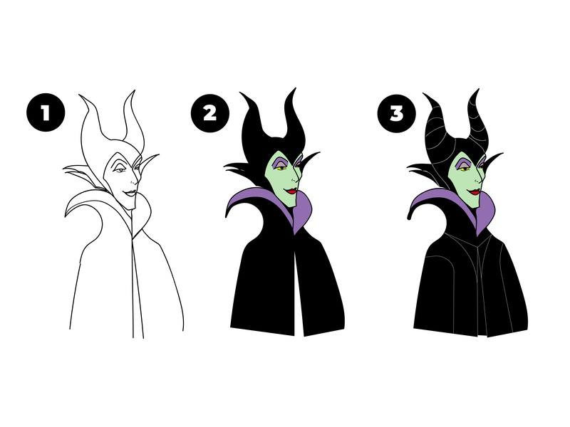 Maleficent Avatar Vector Process