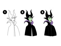 Maleficent Avatar Vector Process