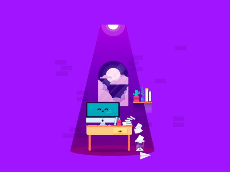 Designer Desk SVG Animation using GSAP(TweenMax JS) by