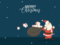 Merry Christmas year flat vector gifts illustrator illustraion design ui holidays new year santa christmas