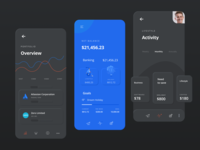 Neumorphic Credit Card Manager App Concept soft soft ui neumorphism mobile ux design application figma interface card creditcard banking skeuomorphism minimal blue dark neumorphic clean ui app