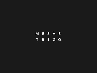 MesasTrigo Logo logo bw minimal typograhy