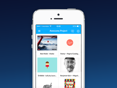 Icebergs for iPhone icebergs ios iphone app moodboard inspiration