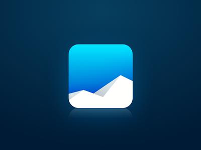 Icebergs Icon icon ios iphone icebergs logo iceberg blue white