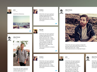 Social Wall – Concept social feed wall concept twitter facebook