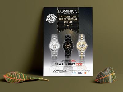 Dominic S Flyer Mockup