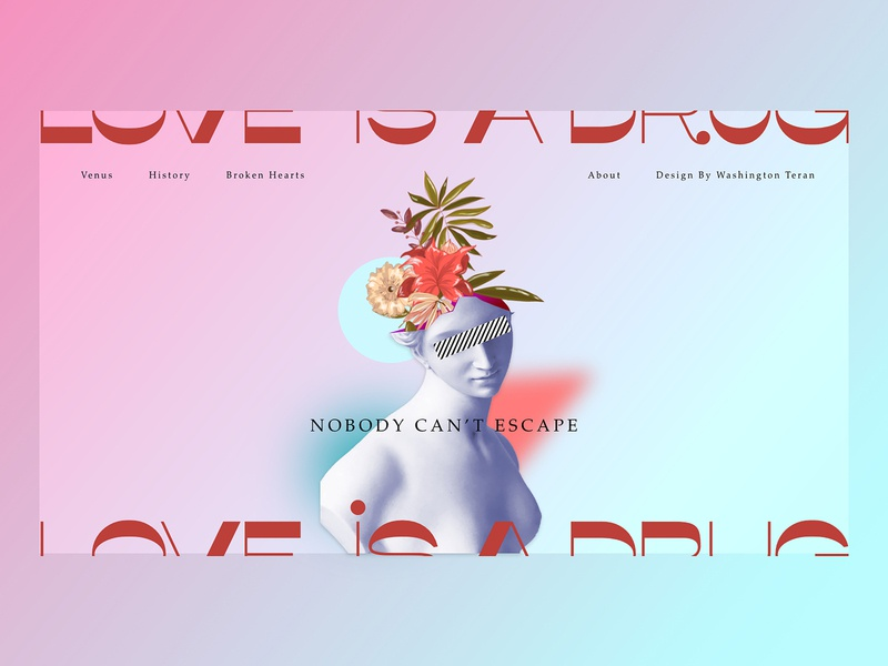 Valentines web design modern contemporary abstract landing page valentine day