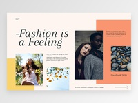 Spring landingpage lookbook web fashion spring