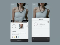 Online cart - UI Concept fashion mobile e-commerce shopping app store app online shop ui app