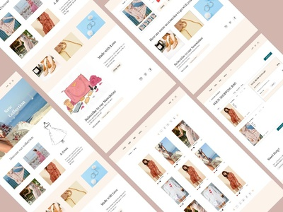 Web Design for boutique shop in France fashion vector web design webdeisgn concept branding design