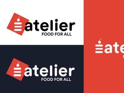 Logo proposal for eatelier food branding logo