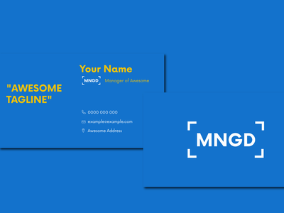 Business cards for MNGD technology corporate brand identity business cards branding logo