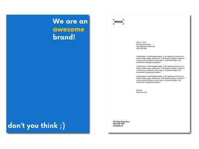 MNGD Letterheads technology corporate brand identity business cards branding logo