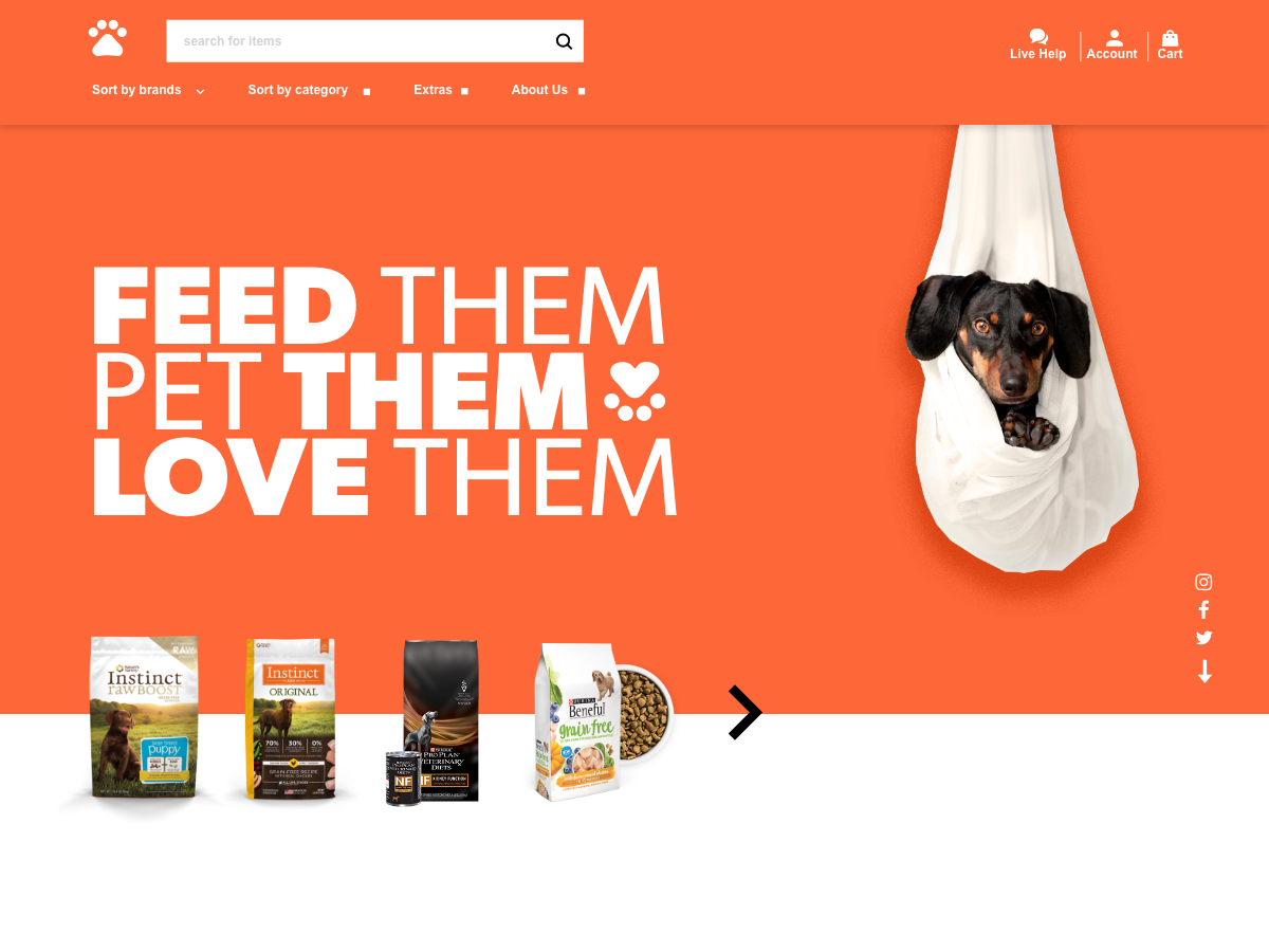 Pet store concept website web uiux ux ui awesome design adobe xd