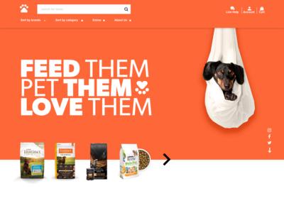Pet store concept website web uiux ux ui awesome design adobe xd