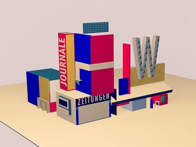 Dream City — studio ui ui ux graphic design bauhaus branding 3d illustration design