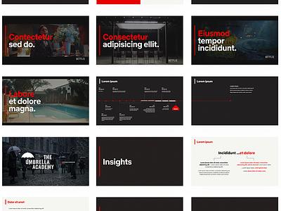Netflic GCM keynote motion storytelling presentation design slides presentation deck netflix