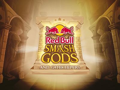 Red Bull Smash Gods and Gatekeepers illustration red bull esports mascot esports logos esports logo gaming logo esports gaming