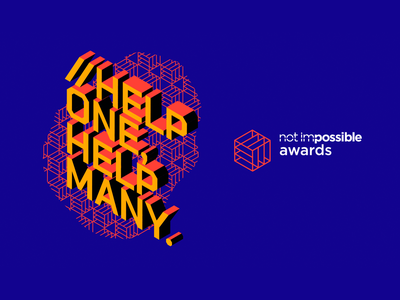 Not Impossible Awards 2019 type design typography logo 3d lettering concept branding concept branding design branding and identity branding brand awards award