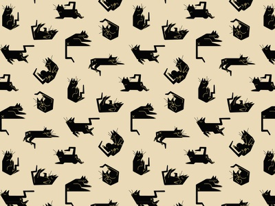 Cat Pattern butts napping cats