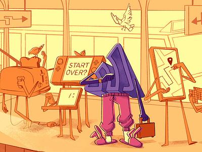 Pants? pigeons sweats slippers work train commute