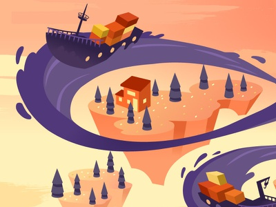 Continuous Shipping Header ships illustration continuousshipping