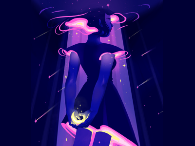 Spacey dreaming ethereal stars space girl