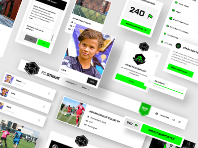 FC straat - Designs system components components component designsystem football desktop design concept ux ui design
