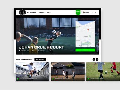 Fc Straat - Courtpage videos platform design design football desktop design ui soccer
