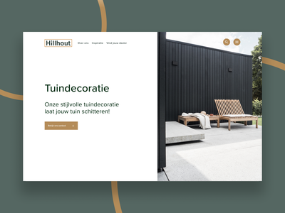 Hillhout - Concept design landing page editorial gardens outdoor layout concept identity design branding