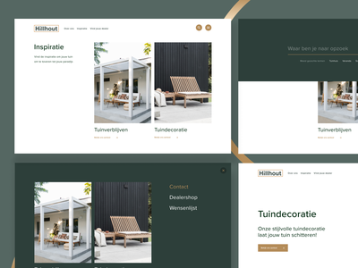 Hillhout - Visual design fences garden design branding ui desktop design concept
