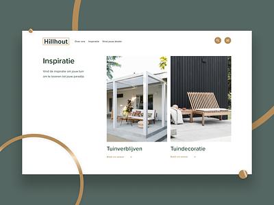 Hillhout - Inspiration page outside pavilion garden fences ui desktop design concept minimalism